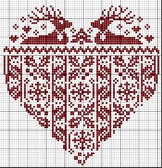 Free cross stitch pattern - It is 84 stitches wide (gridded on 87), and might make an awesome pattern for some double knitting.