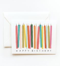 Rifle Paper Co. birthday card...made with scrapbook paper instead?