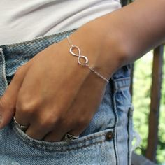 Talisman Jewelry Infinity Monogram Sterling Silver Bracelet $50.00 #thebellacottage #accessories #fashion
