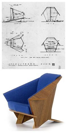 Taliesin / Origami Chair, Frank Lloyd Wright.