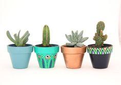 Cloud Nine Creative - Petite Aztec Planter Set Green