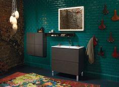 Rectangular washbasin with integrated countertop ME   Washbasin with integrated countertop - DURAVIT