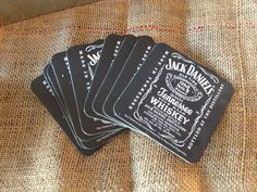 Remember the coasters, tin serving trays, and black cups from this one 30th Birthday Parties, Birthday Party Decorations, Birthday Celebration, Party Themes, Party Ideas, Jack Daniels Party, Jack Daniels Birthday, Husband Birthday, Man Birthday