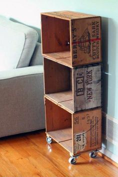 New Wine Crate Diy Storage Bookshelves Ideas Crate Bookcase, Bookshelves, Bookshelf Diy, Vintage Bookshelf, Diy Storage Shelves, Crate Storage, Wine Box Shelves, Storage Ideas, Wooden Box Shelves