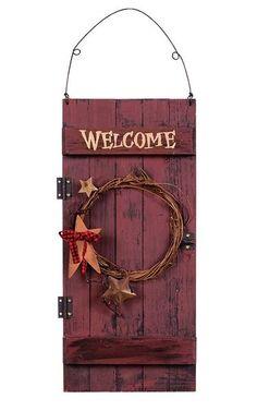 Vintage Barn Door Welcome Sign 31791