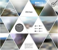 Abstract blurred backgrounds by VectorShop on Creative Market