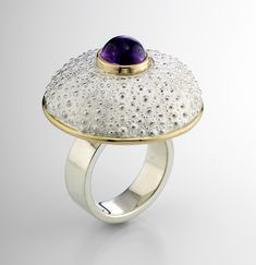 """Red Sea Urchin Ring"""
