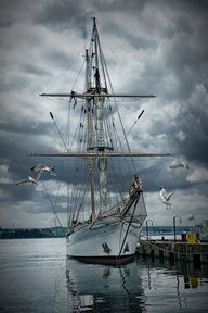 Schooner at port