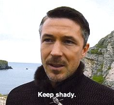 Aidan Gillen giving advice to Petyr Baelish