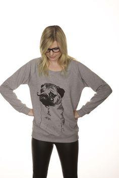 Pug sweater. $49.00, via Etsy...