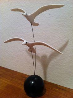 New Handmade set of Seagulls Modern art mobile ...BTW, check this out!!!! : http://artcaffeine.imobileappsys.com