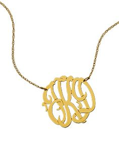 my mom had a necklace like this of my dad's initials.  now I want one with matt's.