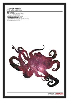Space Octopus Minimalist Space Phenomena Print // by TheGeekerie