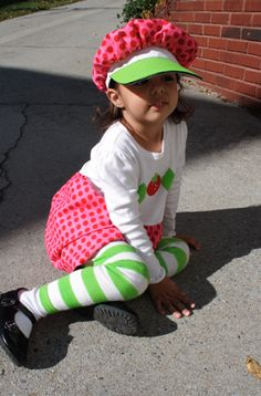 strawberry shortcake costume tutorial...I hope one of the girls would wear this!