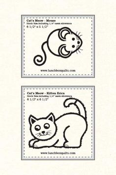 Lunch Box Quilts | Mark-a-Block Cat's Meow