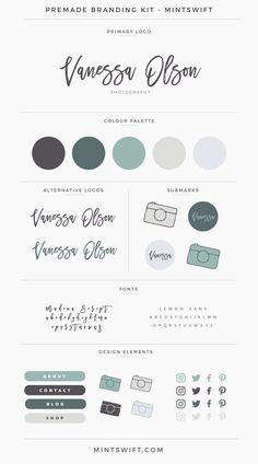 $99 | Vanessa Olson Premade Branding Kit | MintSwift