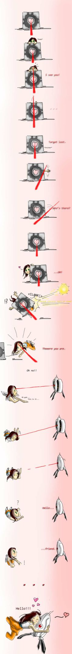 To love a Turret by Arvata on deviantART -- Those who have not played, will not understand how accurate this is.