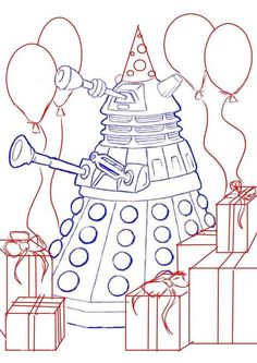 Dalek Coloring Page!
