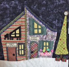 Welcome to the North Pole, Toy Shoppes Detail (2015) Quilt by Anissa Arnold, Pattern by Piece O'Cake Designs, Quilting by Jackie Arnold