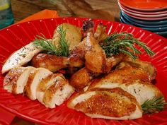 Picture of Tuscan Rosemary-Smoked Whole Chickens Recipe