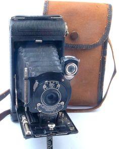 No.1 Pocket Kodak Autographic 120 Roll Film Camera USA c1926-32 with Stylus