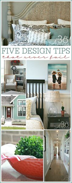 Home Decor and Design Tips that never fail at http://the36thavenue.com