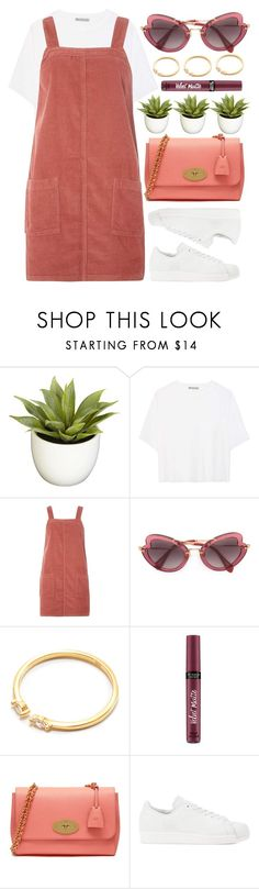 """""""Brighton"""" by monmondefou ❤ liked on Polyvore featuring Nearly Natural, Vince, Dorothy Perkins, Miu Miu, Victoria's Secret, Mulberry, adidas Originals, Pink and peach"""