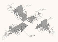 Furnicycle, by AtelierBow-Wow (Shanghai Biennale 2002, Shanghai Art Museum)
