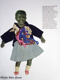 Black Doll Collecting: Antique Black Baby Articulated Paper Dolls