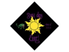 A sample graduation cap idea based on Disney's Tangled. USF Class of 2014.