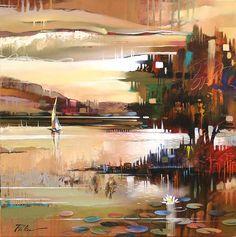 Abstract Modern Painting - Artist Tim Parker - Naples FL