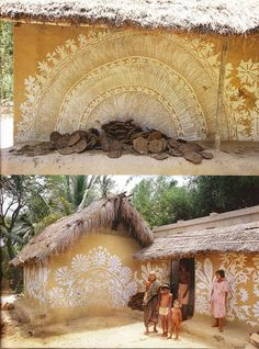 "painted mud hut - look for Taschen book ""Indian Interiors) - Porter Sleit Beautiful Wall, Beautiful Homes, Mud Hut, Afrique Art, Tiny House, Indian Interiors, Vernacular Architecture, India Architecture, Tadelakt"