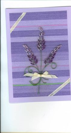 Lavender sprig with ribbon - Quilled Creations Quilling Gallery
