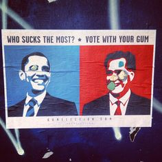 Who sucks the most??? As seen on #webstagram  #gumelection #usa #uselection #election2012 #obama #romney