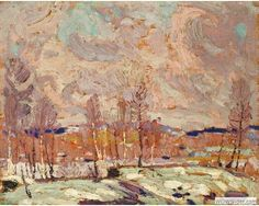 Tom Thomson (1877-1917), Spring Flood, 1917, Oil on wood panel, 21.2 x 26.8 cm, Gift of Mr. R.A. Laidlaw, McMichael Canadian Art Collection