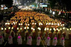Festival das lanternas de lótus 2015 em Seul