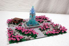 Very nice fountain for a city parc :) Christina's Lego Garden