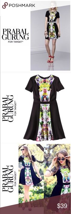 NWOT Prabal Gurung for Target Floral Dress. Sz 6 NWOT Prabal Gurung for Target Floral Dress. Sz 6.  Or groups and sold out everywhere his dress is perfect for day to night. Made in India. 100% polyester.    Bust: 18 inches measured flat across front. Waist: 14 inches length from top of shoulder seem to him 36 inches. Short sleeve. So beautiful. Prabal Gurung for Target Dresses Midi