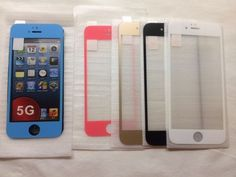 Premium Real Tempered Glass w/ Color Border  9 H For iPhone 5 & S5 #HYPOLAAPS