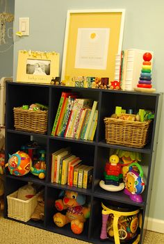 Storage for toys, books, etc.