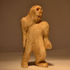 Inuit Shaman Sasquatch Carving - Canadian Museum inquiries only Inuit Art, Hanuman, Museum Collection, First Nations, Folk, Art Pieces, Lion Sculpture, Carving, Statue