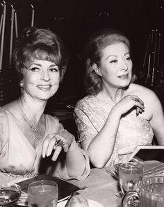 Agnes Moorehead and Greer Garson