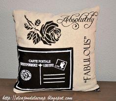 Stencil pillow