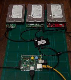 Raid Pi - Raspberry Pi as a raid file server Raspberry Pi Computer, Diy Tech, Cool Tech, Diy Electronics, Electronics Projects, Projetos Raspberry Pi, Computer Projects, Computer Build, Computer Engineering