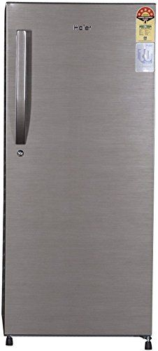 Haier 195 L 4 Star Direct-Cool Single Door Refrigerator (1954BS-R, Brushed Silver)