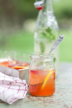 Ginger and Strawberry Bubbles, via Cannelle et Vanille.  I've used this recipe to make homemade ginger ale, but haven't tried flavoring it yet.  I'll have to try it next summer!