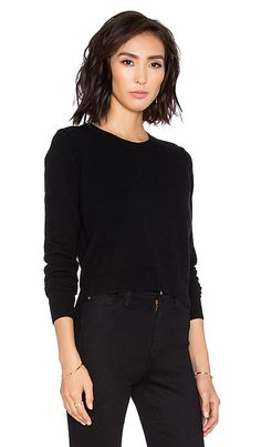 Autumn Cashmere Cropped Sweater in Black | REVOLVE