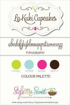 OOAK Premade Logo Design For La Kuki Cupcakes