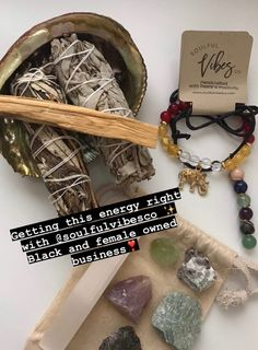 Black owned and female owned! 👏🏾💚 PERIOD 😅 Make sure you check out Soulful Vibes Co. for all of your holistic, spiritual, and metaphysical needs! 🥰🌿🔮✨ What is your #1 favorite item at Soulful Vibes? 🤔 Let us know down below! 👇🏾 #SHOP with us today! 🛍️ 🔗 Link In Bio #spiritualgangster #healer #svctribe #tarotreadersofinstagram #ritual #tarot #ancestors #manifest #blackgirlmagic #spirituality #manifestation #spiritual #crystals #conjurewomancircle #magick #spiritualawakening