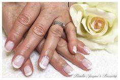 Shellac French mani with accent Swarovski Crystals  www.paula-jaynesbeauty.co.uk